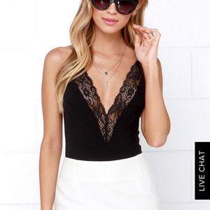 Lulus black bodysuit